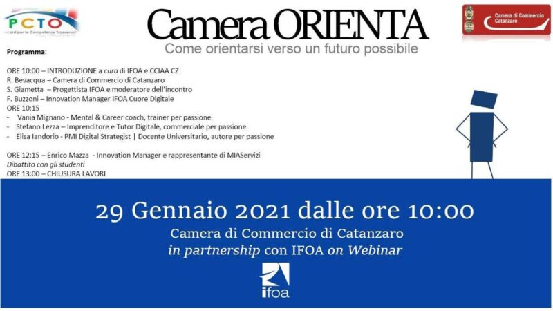 """Camera Orienta"" – Incontro formativo promosso dalla  Camera di Commercio di Catanzaro"